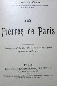 Les pierres de Paris Flammarion