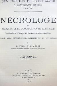 Nécrologe des religieux de la congrégation de Saint Maur