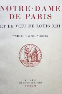 Notre-Dame de Paris et le Voeu de Louis XIII