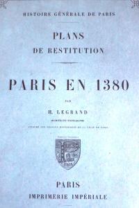 Plan de restitution Paris en 1380