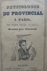 Physiologie du provincial à Paris