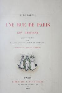Une rue de Paris et son habitant