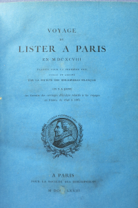 Voyage de Lister à Paris