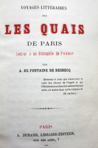 Voyages littéraires sur les quais de Paris